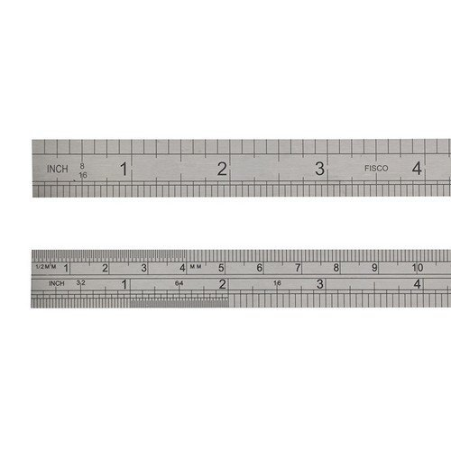 Fisco X712-S Stainless Steel Rule 300mm / 12in