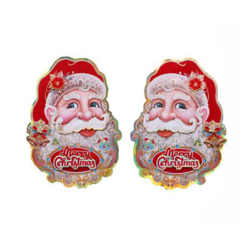 Christmas Decoration Stickers Garden ornaments 6 Pcs -Santa Claus