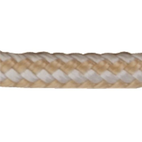 Sea Dog 302106600G-W 0.25 in. x 600 ft. Double Braided Nylon Rope Spool - Gold & White