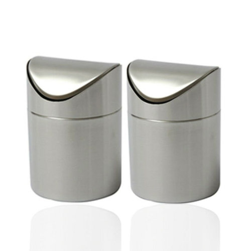 1.5L Metal Mini Recycling Swing Lid Kitchen Worktop Waste trash can
