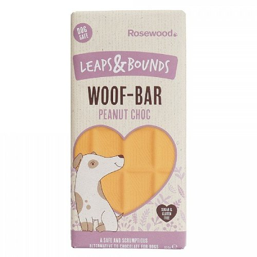 Leaps & Bounds Peanut Choc Woof Bar For Dogs 100g (Pack of 12)