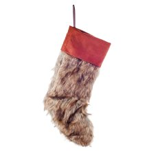 Faux Fur & Felt Christmas Stocking