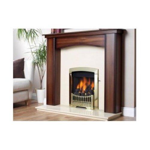 Designer Fire - Flavel FDCN46SN Antique Brass Rhapsody Gas - SC