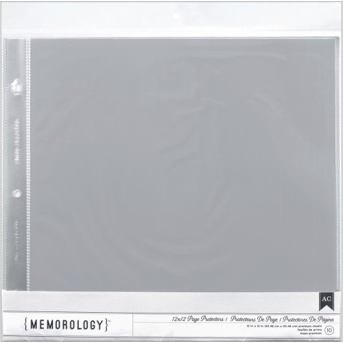"""12"""" x 12"""" Pack Of 10 Page Protectors"""