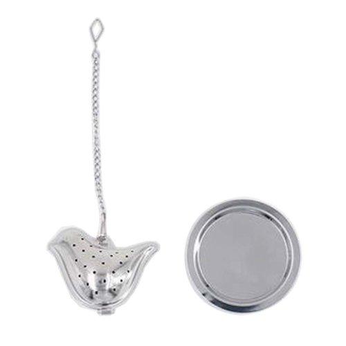 [Silver Bird] Creative Spice/Tea Ball Strainer Tea Filter With Drip Trays