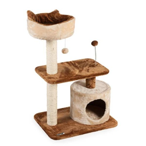 Valencia Cat Tree Scratching Post Hideaway Den Platform Bed