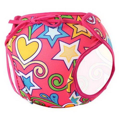 Baby Boy Baby Girl Swim Shorts Reusable Adjustable Infant Swimwear Red Pentagram