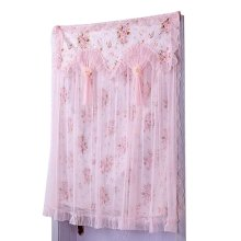 90 by 120 cm Pink Lace Door Curtain Bedroom Hang Curtains