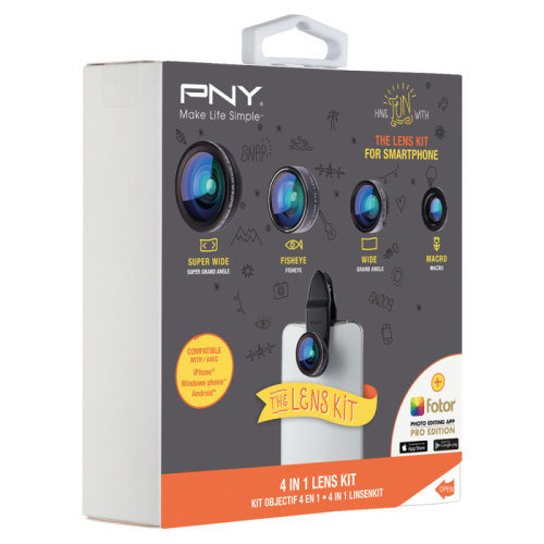 PNY LNS-4N1-02-RB Black mobile phone lens