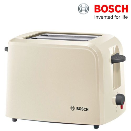 Bosch TAT3A0175G 2-Slice Toaster 980W Cream With Variable Browning Control