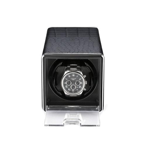 Luxury Single Automatic Watch Winder Display Leather Organizer Case
