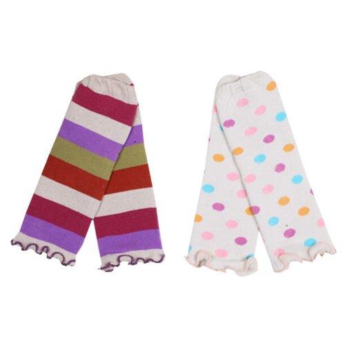 Two Pairs Baby Leg Warmers Baby Socks Baby Leggings ,0-3 Years,Random Pattern