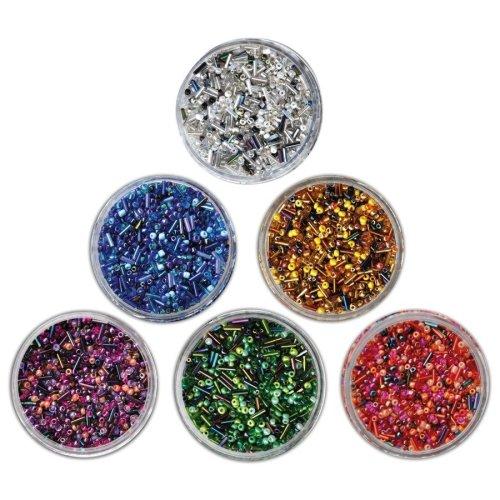 Pbx2470745 - Playbox - Glass Beads (sticks) Green Mix - 190g