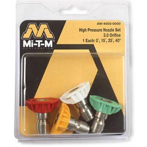 Mi-T-M AW-4035-0000 3.5 Orifice High Pressure Spray Nozzle, Pack 4