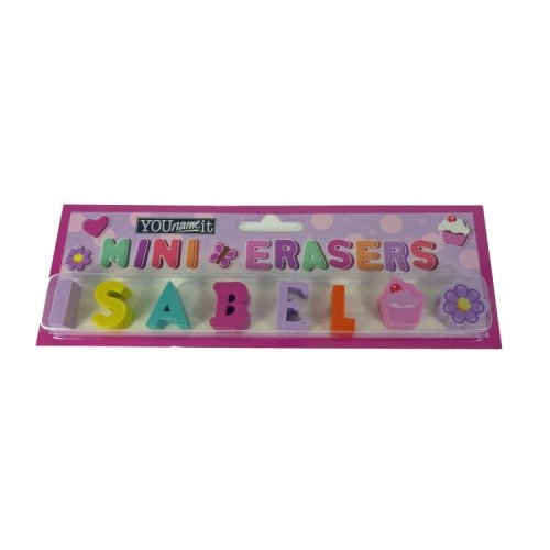 Childrens Mini Erasers - Isabel
