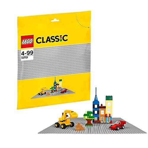 LEGO Classic 10701: Gray Baseplate One Size 15'' (38cm) x 15'' (38cm)