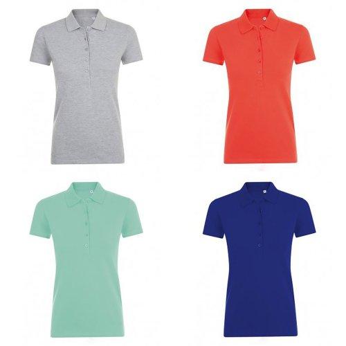 SOLS Womens/Ladies Phoenix Short Sleeve Pique Polo Shirt
