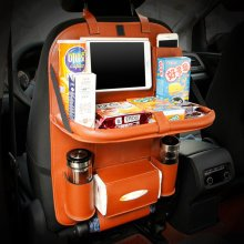 Universal Leather Car Hanging Bag Folding Dining Chair Back Pocket Ipad Holder Storage Container