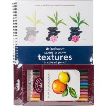 Learn To Draw Textures In Colored Pencil Set-