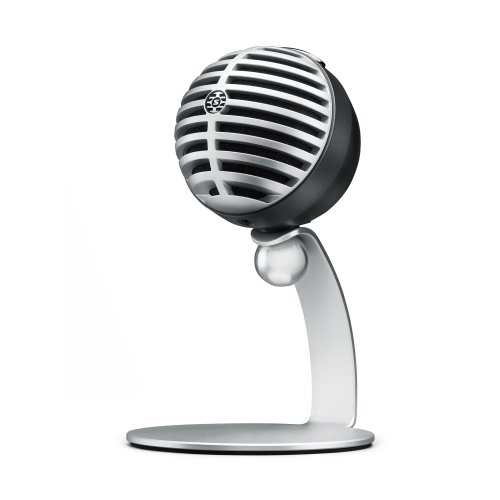 Shure MV5-LTG Digital Condenser Microphone for USB and Lightning, 3 DSP Preset Modes, integrated pre-amp, Zero Latency Monitoring, Headphone jack,...