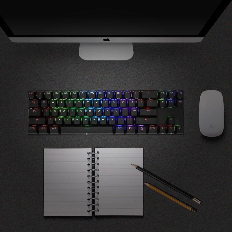 45a701f8c0a ... DREVO Calibur 71 Key RGB Backlit Bluetooth 4.0 Mechanical Keyboard  Wireless Blue Switch Black US Layout. >