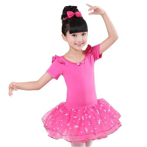 Comfortable Gymnastic Leotard Dress Ballet Tutu Skirt Ballerina Dance Costumes, C