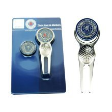 Rangers Golf Divot Tool And Ball Markers - Marker Fc Foot Official Licensed -  tool marker rangers divot fc ball football golf official licensed