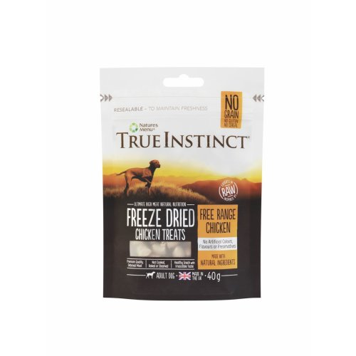 True Instinct Chicken Freeze Dried Treats For Adult Dogs 40g