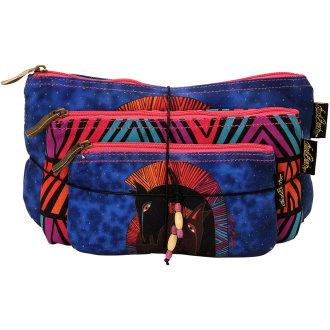 Cosmetic Bags 3/Pkg-Embracing Horses