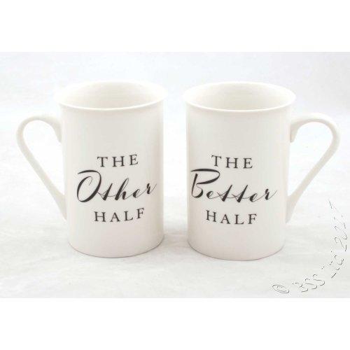 The Other/Better Half Gift Set China Mugs