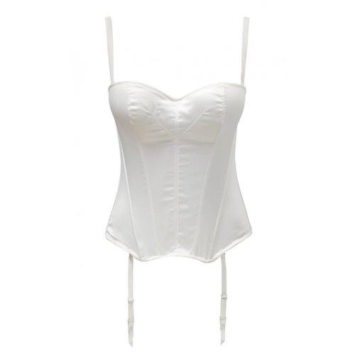Panache 5437 Masquarade Tiffany Underwired Strapless Multiway Basque Ivory Off-White 28F